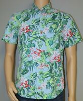 POLO RALPH LAUREN MEN'S BUTTON FRONT SHIRT CHEST POCKET TROPICAL FLORAL PRINT