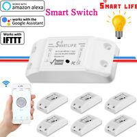 Basic Smart Home WiFi Wireless Light Switch DIY Module Monitor iOS Android Alexa