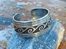 Handcrafted Juan Singer JTS Navajo Sterling Silver Cast Cuff Bracelet 50.8 Grams
