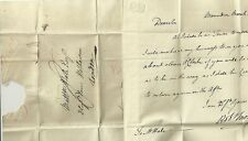 1830 RED BISHOPS STORTFORD PENNY POST ON ROBERT MORGAN LETTER TO MATTHEW HALE