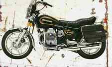 MotoGuzzi V65C 1984 Aged Vintage SIGN A4 Retro