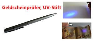 Geldscheinprüfer Geheimstift Spickzettel unsichtbare Tinte UV Schwarzlicht