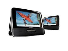 "Philips Portable 7"" Dual-LCD Screens Car DVD Player PD7012/37 movie CD Display"
