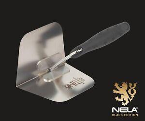 Nela Black Edition Steel Internal Corner Trowel 103 Degrees BiKo Soft Grip