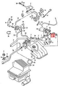 Genuine Elbow Fitting VW Golf Jetta Passat Rabbit Cabrio 1E 1H 1V 1W 037133732