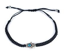 Mens Black Hamsa EyeKabbalah Bracelet Protection From Evil - BLESSED🙏