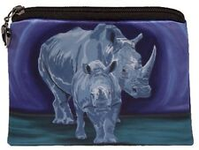 Rhino Change Purse, Coin Purse - From my Original Oil Painting