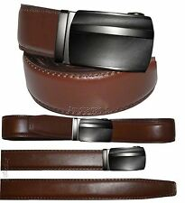 """Men's belt, Genuine Leather Dress & casual Belt. Auto lock New Buckle UP to 50""""."""