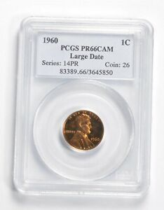 PR66 CAM 1960 Lincoln Memorial Cent - Large Date - Graded PCGS *2302