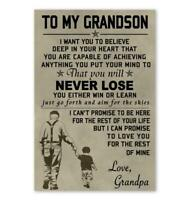 Biker Poster Canvas All Size To My Son Poster Motivation Quotes Wall Decor
