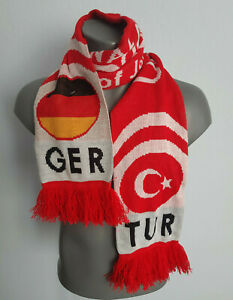 EURO 2008 Turkey vs Germany Football Scarf Semi Final Red BNWT Official Product