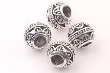 20PCS Tibetan Silver Loose Round Spacer String Beads 10MM Jewelry Making DIY New