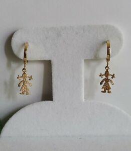 14K Yellow Gold Small Hoop Earrings Not Scrap