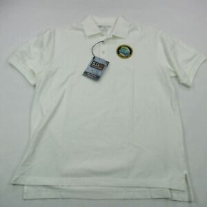 5.11 Tactical Mens Polo Shirt White Law Enforcement Shooting Security Large New