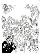 "GIANCARLO ALESSANDRINI-Martin Mystère- copertina n. 319 ""I pensieri degli altri"""