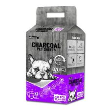 Absorb Plus - Charcoal Pet Sheet Puppy Wee Pads - Small x 100-pack (purple pack)