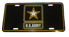 """Black U.S. Army Star Strong 6""""x12"""" Aluminum License Plate Tag USA Seller"""