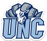 UNC University of North Carolina Rameses top of UNC Logo type Tar Heels Magnet
