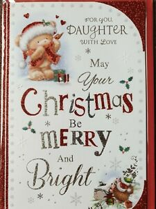 FOR YOU DAUGHTER WITH LOVE CHRISTMAS CARD
