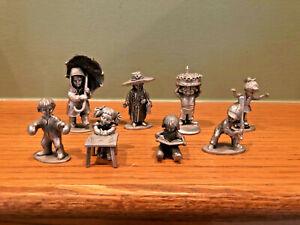 Lot of 8 Vintage Hudson Pewter USA Figurines