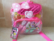 Nwt Minnie Mouse Picnic Set 20 Pieces Backpack Play Food Disney Junior