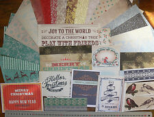 HERITAGE C 15 D/S 6x6 CardStock;16D/S VariedMix; 1 Red&Gold6x6 & 1 6x3SlvGlitter