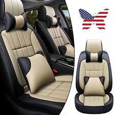 Car Accessories Luxury Leather Auto Seat Cover Front Rear Full Set For SUV Truck