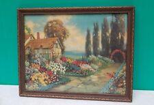 Circa Early 1900s Robert Atkinson Fox AN OLD FASHIONED GARDEN framed print