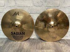 "More details for sabian aa regular hats 14""/36cm hi hat cymbals (pair) drum accessory"