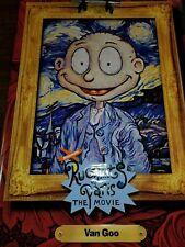 """Vintage Nickelodeon Rug Rats Vinyl Movie Banner 4' x 6' """"Van Goo"""""""