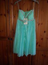 "Eva & Lola Green Embellished Pleated Swing Dress - Size M ""RECENTLY REDUCED"""