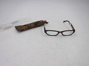 Calabria 4377 Reading Glasses w/Floral Designs & Matching Case, +3.50