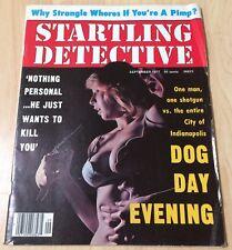 Startling Detective September 1977 G/VG! Lingerie Bondage Cleavage Cover!