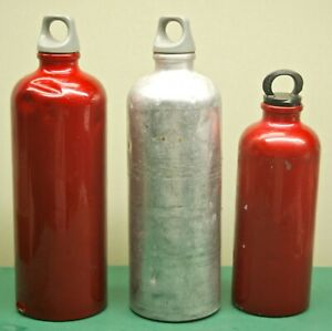 SIGG Switzerland Fuel Bottles for Camping Stove LOT of 3