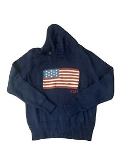 Polo Ralph Lauren USA Shawl Collar Sweater size Medium M