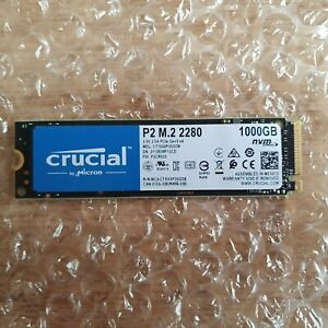 **Weekend Clearance Sale** Crucial P2 M.2 2280 1TB SSD PCI Express 3.0 x4 NVMe