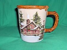 #337 - ST. NICHOLAS SQUARE SNOW VALLEY~TAPERED BEVERAGE CUP - WINTER CABIN