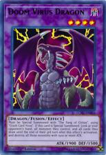 Yugioh Doom Virus Dragon Fusion 3 Card Set Crush Virus Fang of Critias + Bonus