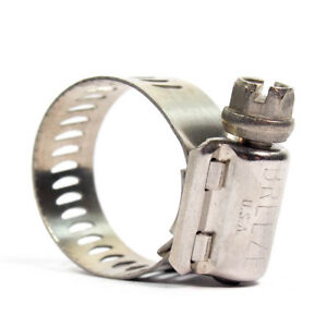 "Ideal 1/2"" to 1-1/4"" Diameter Stainless Steel Hose Clamps 6712-1 (Pack of 10)"