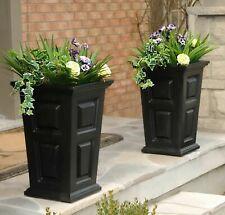 "Two Large 24"" Tall Flower Pot Planter Box Patio Deck Garden Porch Yard 2 pack"