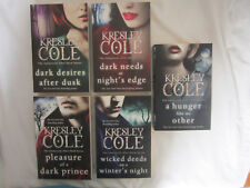 5 x Books by Cole, Kresley Dark Needs at Night's Edge, Hunger Like no Other +