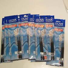 Set of 12 BLACK Itoya GEL Ink Refills-Parker Style-.7mm-GPR-7BKBP- SMEAR PROOF