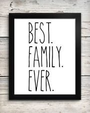 Best Family Ever 8 x 10 Art Print - Wall Decor Home Kitchen Farmhouse Rae Dunn