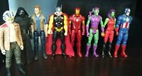 12 Inch Action Figure Lot Mixed 8 TOTAL Marvel Star Wars Jurassic Park GC Loose