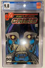 CRISIS ON INFINITE EARTHS #6 CGC 9.8 WHITE Pages! ANTI-MONITOR George Perez