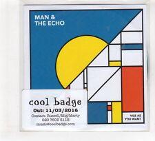 (HF545) Man & The Echo, Vile As You Want - 2016 DJ CD