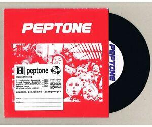 "PEPTONE Smashing UK 7"" Promo insert clean vinyl punk indie new wave Free UK Post"