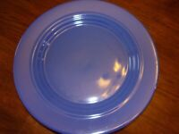 Signature Boscoware Blue Salad Plates Stoneware Dish Thailand 8 3/4 Lot of Four