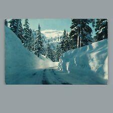 Vintage c. 1961 Postcard: Mile High Snowbanks Cascade Mountain Hood River OR