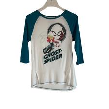 Marvel Rising Secret Warriors Ringer T Tee Shirt Teal Green White Kids L